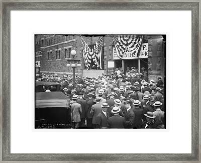 Men At 1912 Republican National Convention Framed Print by Historic Photos