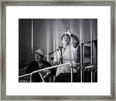 Men At Work Framed Print by Wallaroo Images