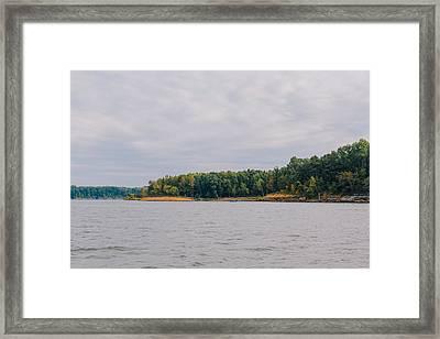 Men Fishing On Barren River Lake Framed Print