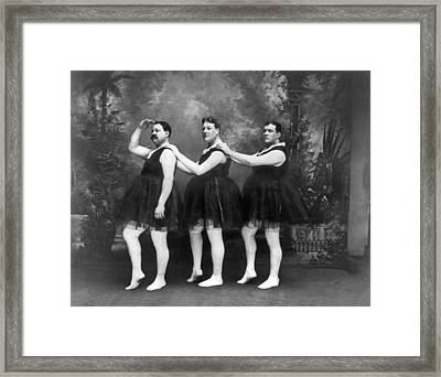 Men In Tights And Tutus Framed Print by -