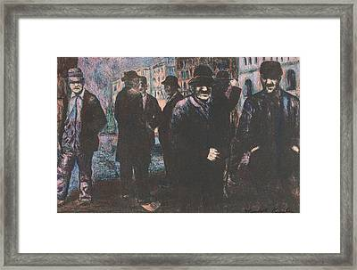 Men Framed Print by Kendall Kessler