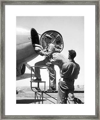 Men Loading Air Mail Bags Framed Print by Underwood Archives