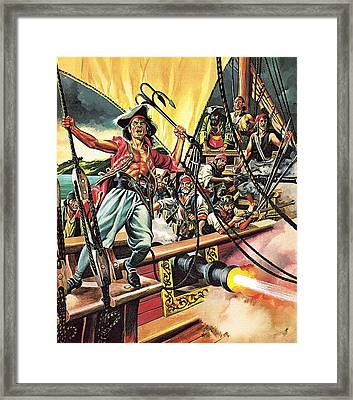 Men Of The Jolly Roger Framed Print by Ron Embleton