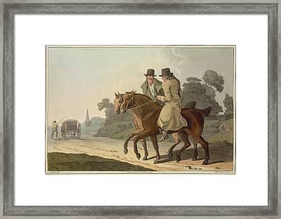 Men On Horseback Framed Print by British Library