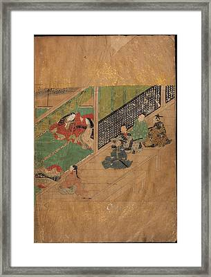 Men Sitting On A Verandah Framed Print by British Library