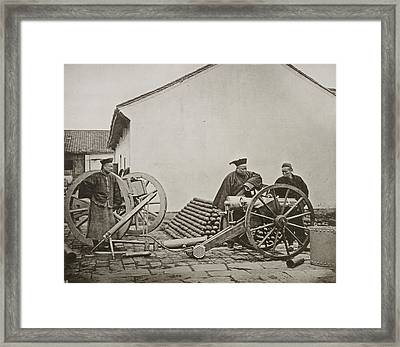 Men With Volley Gun And Rockets Framed Print
