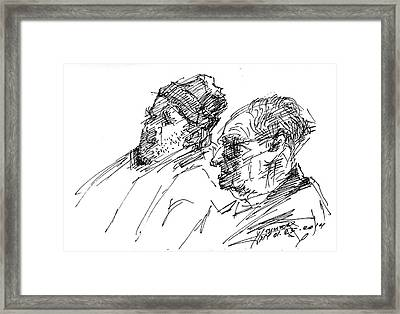 Men Framed Print