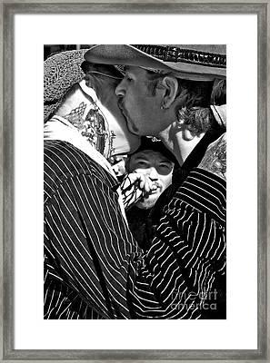 Menage A Trois Framed Print by Kathleen K Parker