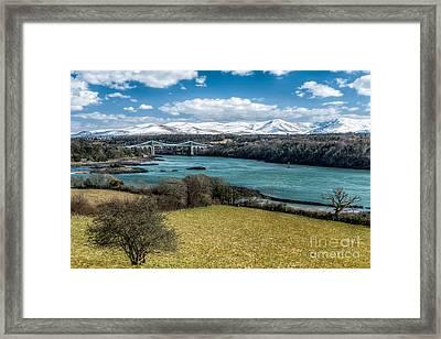 Menai Bridge 1819 Framed Print by Adrian Evans