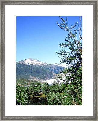 Framed Print featuring the photograph Mendenhall Glacier by Jennifer Wheatley Wolf
