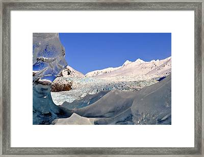 Framed Print featuring the photograph Mendenhall Glacier Refraction by Cathy Mahnke
