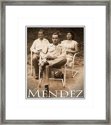 Mendez Framed Print by Lilliana Mendez