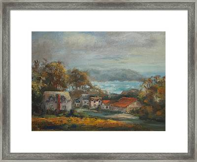 Mendocino Evening Framed Print