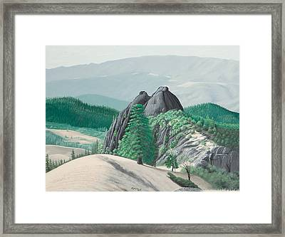 Mendocino Knockers Framed Print