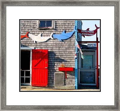 Menemsha Fish Market 3 Framed Print