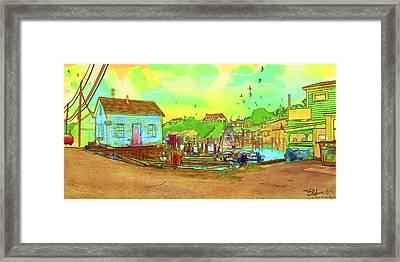 Menemsha Harbor Framed Print by Gerry Robins