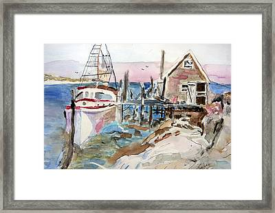 Menemsha Harbor Framed Print