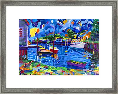 Menemsha Row Boat Framed Print by Michael Phelps Morse