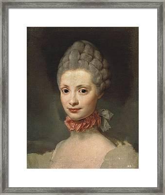 Mengs, Anton Raphael 1728-1779. Maria Framed Print