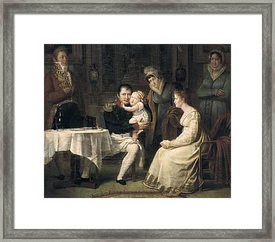 Menjaud, Alexandre 1773-1832. Napoleon Framed Print by Everett