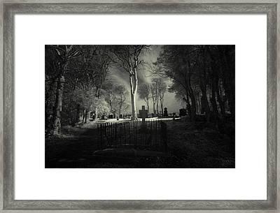 Menlo Cemetery Framed Print