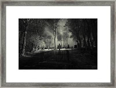 Menlo Cemetery Framed Print by Peter Skelton