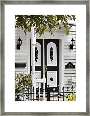 Menomonee Street Old Town Chicago Framed Print by Christine Till