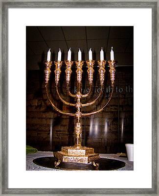 Menorah Framed Print by Tikvah's Hope