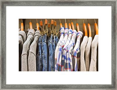 Mens' Clothing Framed Print by Tom Gowanlock
