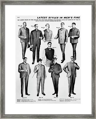 Men's Fashion, 1902 Framed Print by Granger