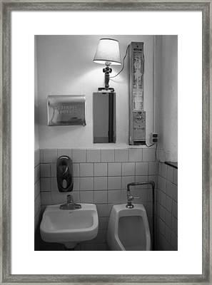Mens Room Framed Print