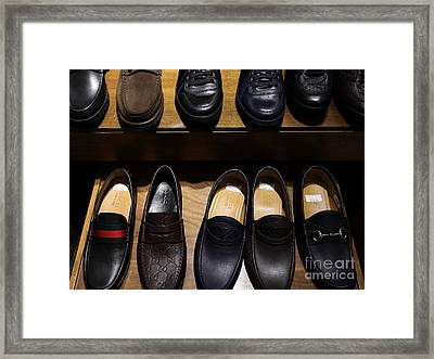 Men's Shoes - 5d20644 Framed Print by Wingsdomain Art and Photography