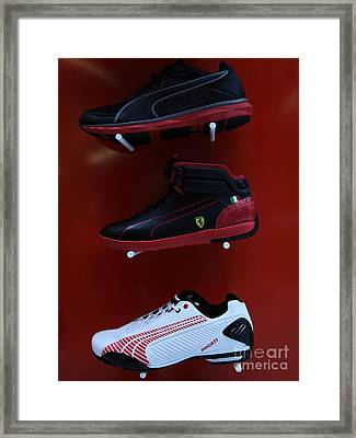Men's Sports Shoes - 5d20675 Framed Print by Wingsdomain Art and Photography