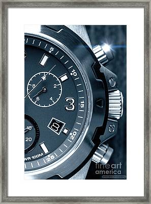 Mens Watch Close Up Framed Print by Simon Bratt Photography LRPS