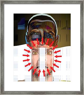 Mental Disorder, Conceptual Artwork Framed Print by Science Photo Library