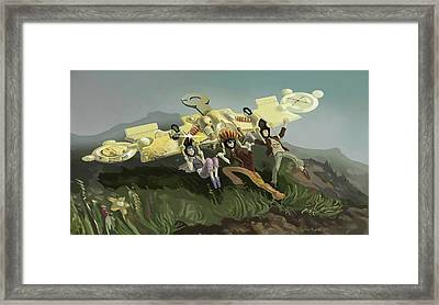 Mental Glider Framed Print