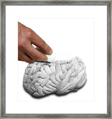 Mental Illness Framed Print by Victor De Schwanberg