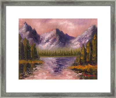 Framed Print featuring the painting Mental Mountain by Jason Williamson