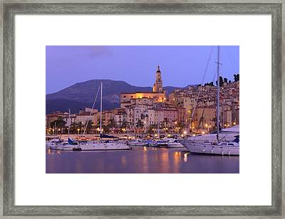 Menton Framed Print by Christian Heeb