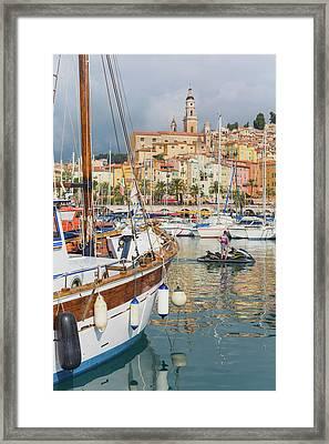 Menton, Cote Dazur, French Riviera Framed Print