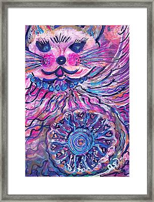 Meow And Mandela Framed Print by Anne-Elizabeth Whiteway