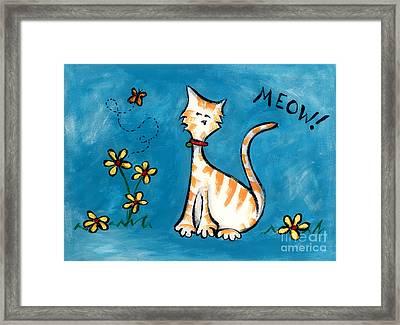 Meow Framed Print by Diane Smith