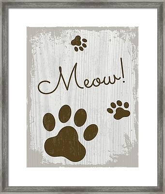 Meow! Framed Print