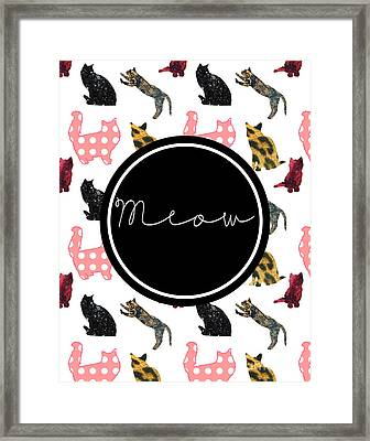 Meow Framed Print by Pati Photography