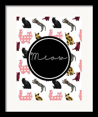 Meow Framed Prints