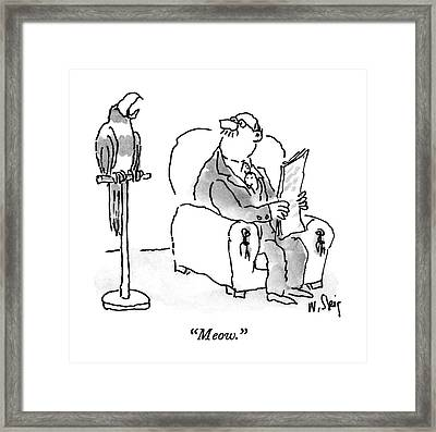 Meow Framed Print by William Steig