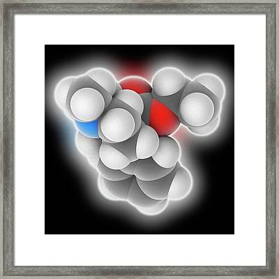 Meperidine Drug Molecule Framed Print by Laguna Design