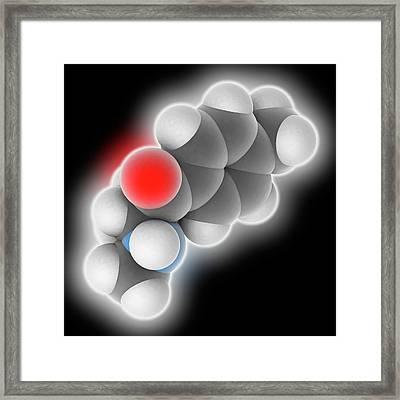 Mephedrone Drug Molecule Framed Print by Laguna Design