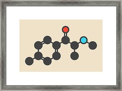 Mephedrone Molecule Framed Print by Molekuul