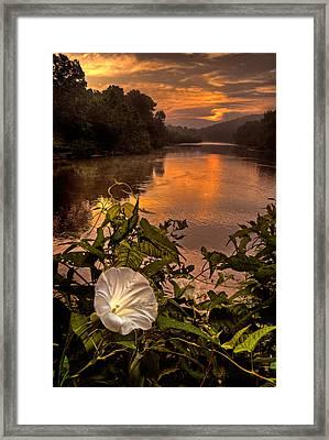 Meramec River At Chouteau Claim Framed Print by Robert Charity